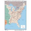 Universal Map U.S. History Wall Maps - Principal Roads & Waterways