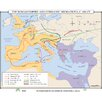 Universal Map World History Wall Maps - Roman Empire & Germanic Migrations