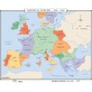 Universal Map World History Wall Maps - Medieval Europe