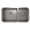 "Julien ProInox 33"" x 18"" Undermount Double Bowl Kitchen Sink"