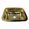 """Nantucket Sinks 15"""" x 12"""" Rectangular Hammered Bar Sink"""