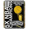 Northwest Co. NBA Spurs Commemorative Series Tapestry Throw