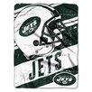 Northwest Co. NFL Jets Deep Slant Micro Raschel Throw