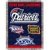Northwest Co. NFL New England Patriots Commemorative Tapestry Throw