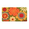 Design by AKRO Summer Flower Coir Doormat
