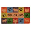 """Design by AKRO """"Wipe Your Paws"""" Doormat"""