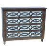Crestview Collection Beacon Hill 4 Drawer Wood and Mirror Chest