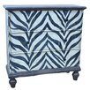 Crestview Collection Serengeti 4 Drawer Zebra Chest