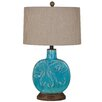 """Crestview Collection Deep Ocean 25"""" H Table Lamp with Drum Shade"""