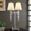 """Crestview Collection Celest Twin Arm 31"""" H Table Lamp with Empire Shade"""