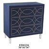 Crestview Collection Fabric Nailhead 3 Drawer Chest