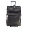 """Piel Leather Blushing Red Collection 22"""" Wheeled Traveler Suitcase"""