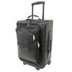 "Piel Leather Traveler 19"" Multi-Pocket Wheeler Suitcase"