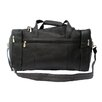 """Piel Leather Traveler 19"""" Leather Weekender Duffel with Side Pockets"""