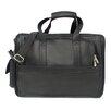 Piel Leather Entrepeneur Half-Moon Portfolio Laptop Briefcase