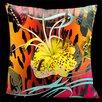 Lama Kasso Butterflies with Animal Print Throw Pillow