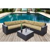 Bellini Home and Garden Pasadina 6 Piece Lounge Seating Group with Cushion