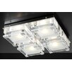 PLC Lighting Corteo 4 Light Semi Flush Mount