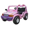 CTM Homecare Product, Inc. 6V Double Seater Electric Touring 12V Battery Powered Jeep