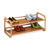 Honey Can Do 2-Tier Stackable Bamboo Shoe Shelf