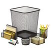 Honey Can Do 6 Piece Steel Mesh Desk Organizer Set