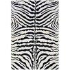 L.A. Rugs Supreme Black/White Zebra Print Area Rug