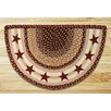 Earth Rugs Burgundy Stars Printed Slice Rug