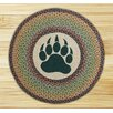 Earth Rugs Bear Paw Printed Area Rug
