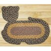 Earth Rugs Brown/Black/Charcoal Cat Shaped Rug