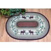 Earth Rugs Moose Oval Gray Patch Area Rug