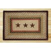 Earth Rugs Barn Stars Printed Area Rug
