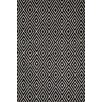 Dash and Albert Rugs Woven Black & Ivory Diamond Indoor/Outdoor Area Rug