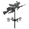 Whitehall Products Flying Witch Garden Weathervane