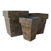 Cheungs 3 Piece Square Pot Planter Set