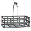 Cheungs Rectangle Metal Slatted Caddy with Wood Grip Metal Handles