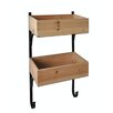 Cheungs Wooden Wall Storage with Metal Frame