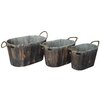 Cheungs 3 Piece Oval Container with Rope Handles Set