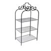 Cheungs 3 Tiered Metal Rack with Wire Mesh Shelves