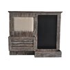 Cheungs Wooden Wall with Pin and Chalkboard