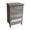 Cheungs Wooden Cabinet with 3 Drawers and Rope Handles