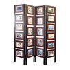 """Proman Products 67"""" x 54"""" Oscar Picture Folding Screen 4 Panel Room Divider"""