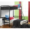 DHP Twin Loft Bed with Built-In Ladder