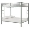 DHP Full Over Full Bunk Bed with Built-In Ladder