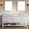 "Ariel Bath Shakespeare 73"" Double Sink Vanity Set with Mirror"
