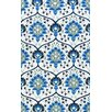 nuLOOM Uzbek Tomlin Ivory/Blue Area Rug
