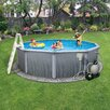 """Blue Wave Products Round 52"""" Deep 7"""" Top Rail Martinique Metal Wall Swimming Pool Package"""
