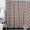 Violet Linen European Christmas Santa Claus Design Printed Shower Curtain