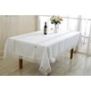 Violet Linen Ruby Embroidered Oblong/Rectangle Tablecloth