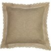 Violet Linen Stars Decorative Cushion Cover