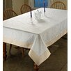 Violet Linen Ribbon Rose Embroidered Tablecloth